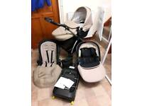 Full silver cross wayfarer travel system with simplicity car seat and isofix
