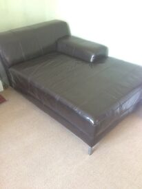 Corner leather sofa in brown can deliver tonight.
