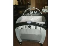Graco contour electra travel cot with sound and motion all fully functional..