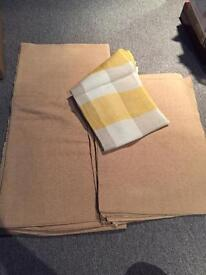 Heavy drill tablecloth with mats and linen tablecloth