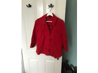 Red summer cotton maternity jacket H&M size 10