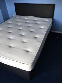 Black king size divan bed
