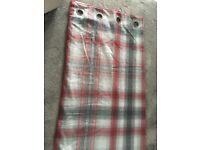 Red & Grey checked curtains from Next. Ring top. Fully lined. Excellent condition.