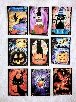 Set of 9 Cards~Halloween Spooks~Pocket Pen Pal Cards only~No Protector~#139N