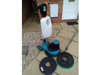 "17"" Truvox Orbis 200 Floor Polisher, Buffer, Scrubber With Tank, Pad Drive & New Scrubbing Brush"