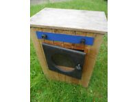 Playhouse wooden washing machine