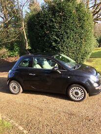 Fiat 500 1.2 Lounge 2011 Excellent Condition 3dr Black Low Mileage FSH MoT to Mar 2018