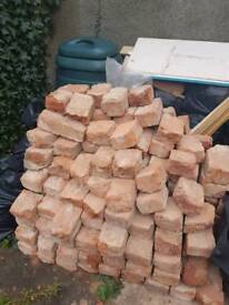Approx 100 Victorian red clay bricks