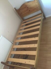 Single bed frame solid wood