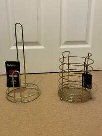 Kitchen Roll and Utensil Holders