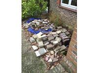Block paving , bricks, tumbled, tegula, cottage, diy,