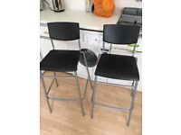 Two high stools