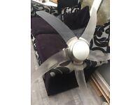 Ceiling fan large light - remote control -£50