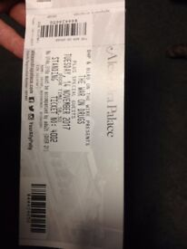 1 ticket for the War on Drugs tonight at Alexandra Palace (14 November 2017)
