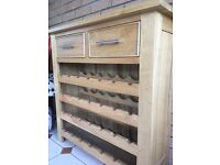 Oak wine cabinet from Pine Solutions