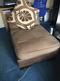 SOFA CHAIR AND FOOTREST FOR SALE