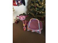 My first trampoline and peppa pig scooter