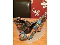 Ladies 2 pairs wedges size 6
