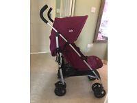 Joie Nitro Skewed Lines Pink Stroller *AS NEW!*