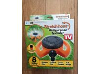 Stretch hose multipurpose sprinkler