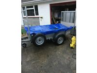 8 x 4 Ivor Williams trailer with ramp and ladder rack.
