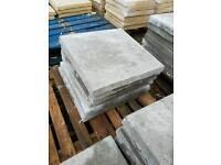Standard grey 450x450x50 Riven concrete paving slabs