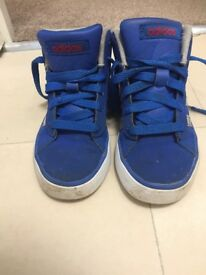 Blue Adidas trainers barely worn