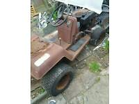Mower sit on