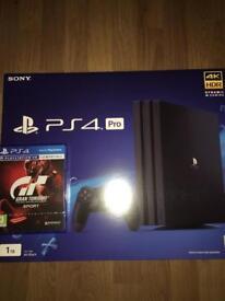 PlayStation4 Pro + Gran Turismo Sport, Brand new, 1TB