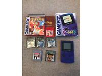 Gameboy color boxed with 6 games