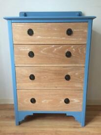 Painted Solid Pine Chest Of Drawers Upcycled/Shabby Chic/Vintage