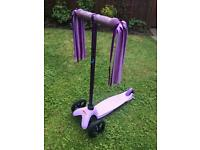 Girls Purple Mini Micro Scooter