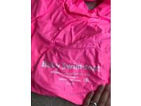 Baby swim seat, inflatable ring, pink