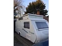 Trigano silver 420 fixed bed pop top 4 berth 2008