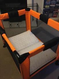 Babyweavers travel cot with mattress