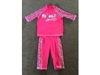 Girls sun suit pink 2-3yrs