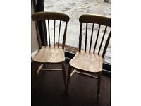 2 Antique Pine Chairs