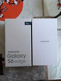 Brand New Samsung S6 Edge 64GB Unlocked Black Sapphire
