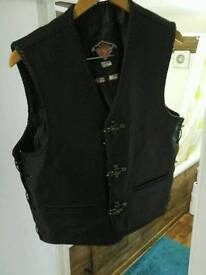 Moterbike leather waist coat