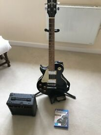 Left handed Encore les Paul guitar with amp and rocksmith for ps4
