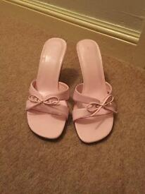 Pink sandals size 5