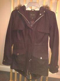 coats -2 ladies fashion size 10 - Blue Newlook and Green Vera Moda