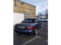 Mercedes CLK 280 4-Seater Blue/grey Convertible. 3.0 V6, 7 Speed Auto. A real head-turner and FSH !