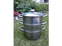 Set of 3 Large steamer pans.