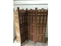 Solid wood privacy screen - £150