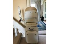ALMOST NEW BROOKS 180 CURVED STAIRLIFT (USED ONCE)