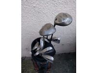 Set of left handed clubs in excellent condition