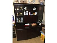 Living Room Furniture - Solid Dark Brown Solid Wood - Excellent Condition