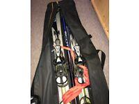 Set of ski and sticks
