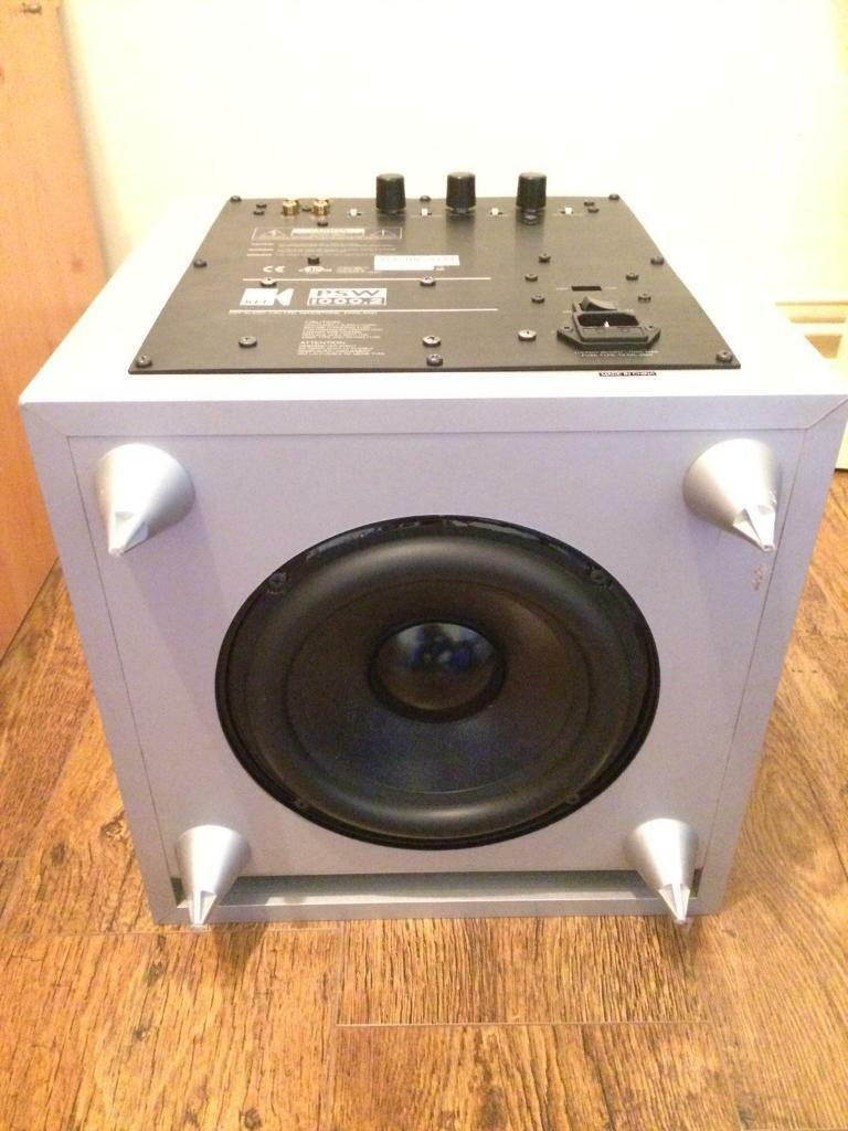 KEF PSW 10002 Active SUBWOOFER Amazing BASS Home Cinema